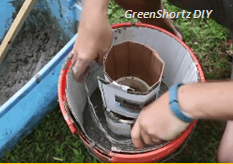 how to build a concrete rocket stove