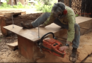 How To Use A Homemade Alaskan Mill To Turn A Tree Into Lumber.
