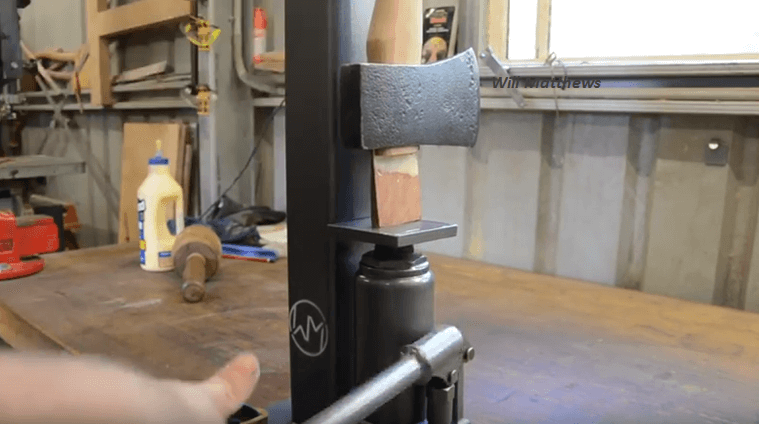 How To Make An Axe Wedge Press Using A Bottle Jack.