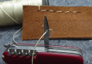 Sewing Up Stuff With The Help Of Your Swiss Army Knife.
