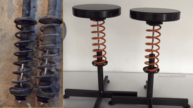 How To transform A shock Absorber Into A Sturdy Stool.