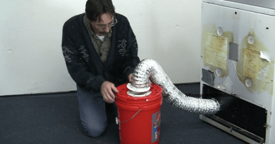 Harness Heat And Humidity From An Electric Dryer Using A Bucket And Water.