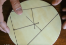 A Craftsman's Handy Guide To Finding The Center Of A Wooden Circle.