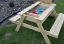 Learn How To Make A Picnic Table And Sandbox Into One!