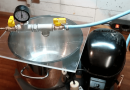 Turn Your Old Fridge Compressor And Steel Pot Into A Vacuum Pump And Chamber.