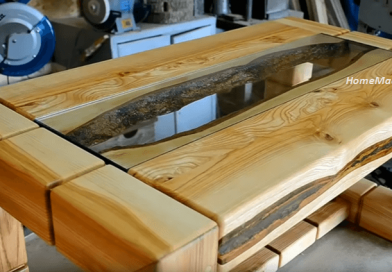 Making A Sturdy Coffee Table Using Ash Tree Boards.